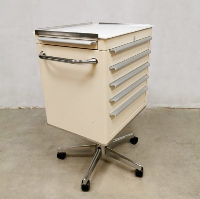 Midcentury Industrial medical cabinet trolley, 1960s