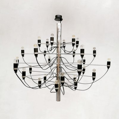 Vintage design '2097/30' chandelier pendant by Gino Sarfatti for Flos, 1970s