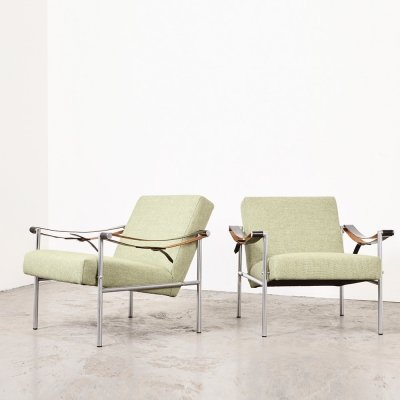 Martin Visser Pair of SZ38/SZ08 Easy Chairs for 't Spectrum, 1960