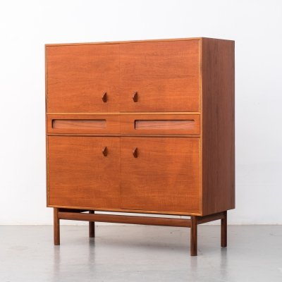 Midcentury teak drinks cabinet by Tom Robertson for Mcintosh, 1960s
