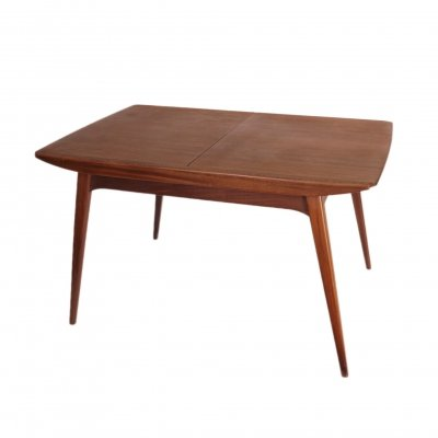 Extendable dining table by Louis van Teeffelen for Wébé, 1960's