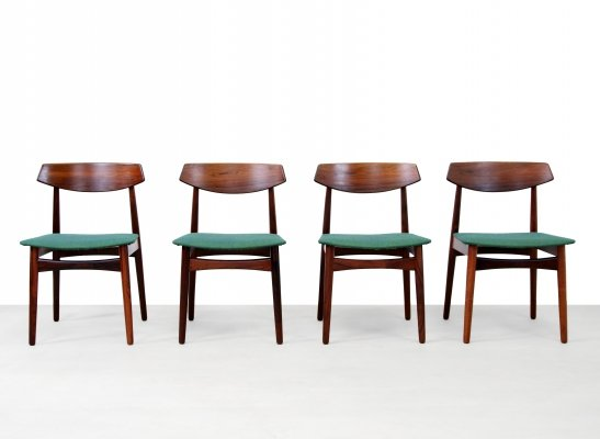 Set of four Rosewood Danish design chairs by Skovby Mobler