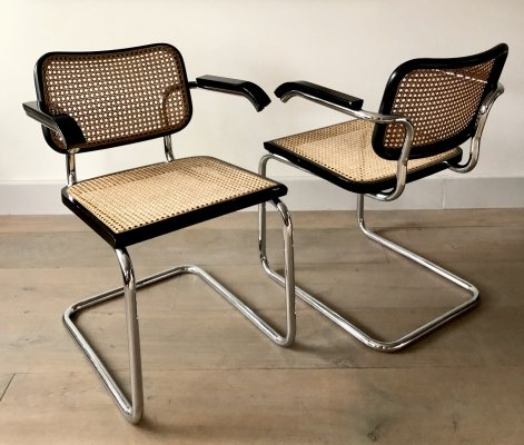 Rare set of 2 Marcel Breuer B64 chairs by Gavina, Italy 1962