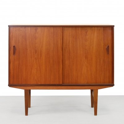 Danish teak wooden highboard, 1960s