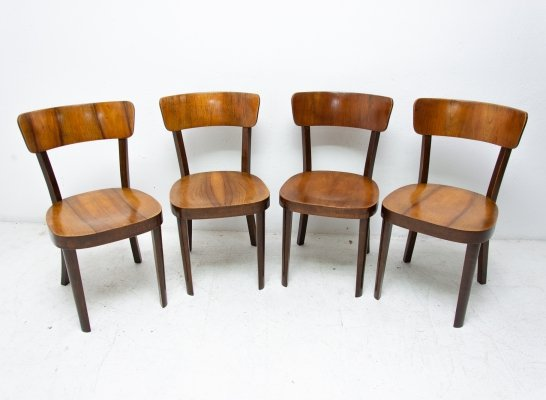 Set of 4 TON dining chairs, Czechoslovakia 1950s
