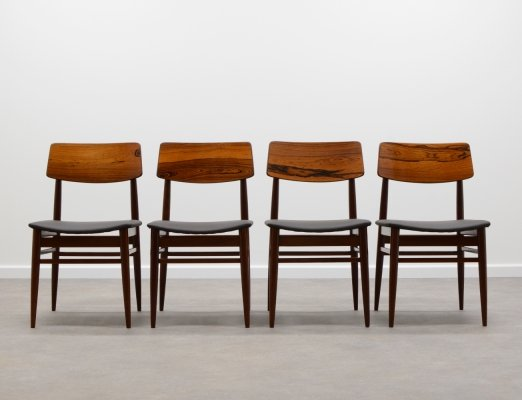 Set of 4 rosewood chairs by Topform Holland, 1960s