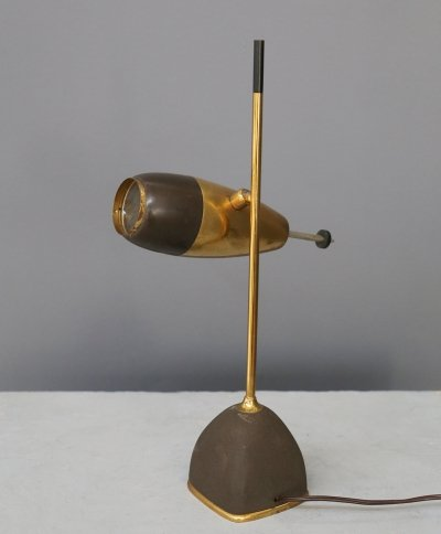 MidCentury Table Lamp in brass by Oscar Torlasco for LUMI, 1955