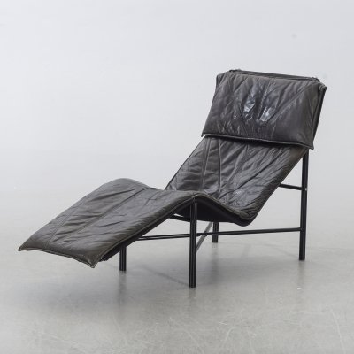 Black leather Tord Björklund 'Skye' resting chair by IKEA, 1980s/1990s