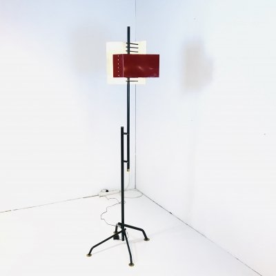 Rare Modernist Floor Lamp by Stilnovo, Italy 1950s