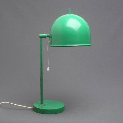 Very rare green metal mid-century Swedish table lamp model B-075 by Bergboms, 1960s