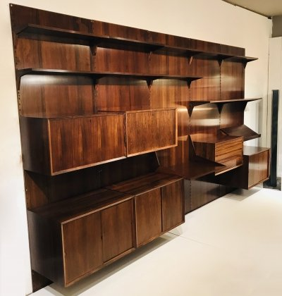 Rosewood Royal System Wall Unit by Poul Cadovius for Cado, Denmark 1960s