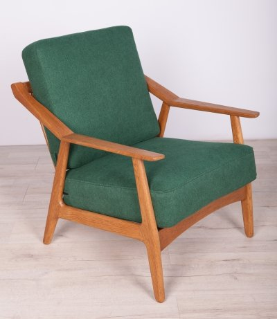 Danish Oak Lounge Chair by Brockmann-Petersen, 1960s