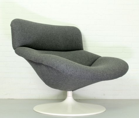 Vintage F518 Lounge Swivel Chair by Geoffrey Harcourt for Artifort