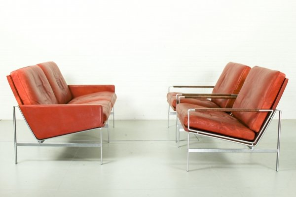 Model FK 6720 seating group by Preben Fabricius & Jørgen Kastholm, 1970s