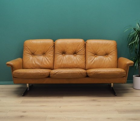 Danish design sofa in leather, 1960's