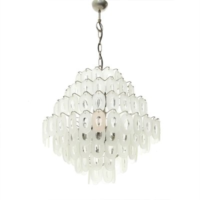 Italian Chandelier with Glass Elements, 1970s