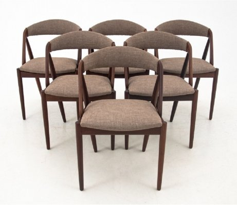 Set of 6 chairs by Kai Kristiansen, 1960s