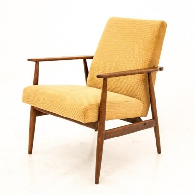 Vintage yellow armchair by H.Lis, 1960s