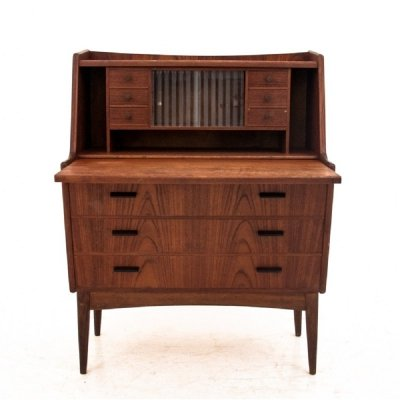 Danish teak secretary desk, 1960s