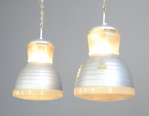 Pendant lights by Adolf Meyer for Zeiss Ikon, circa 1920s