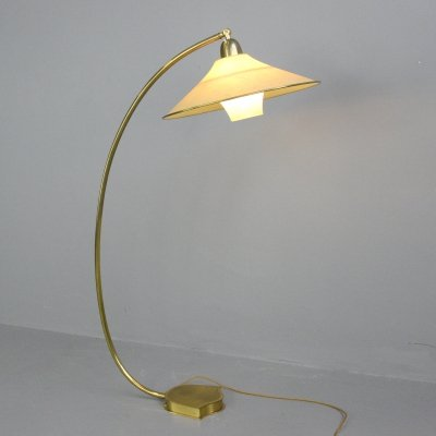 Floor Standing Brass Reading Lamp by AEG, Circa 1940s