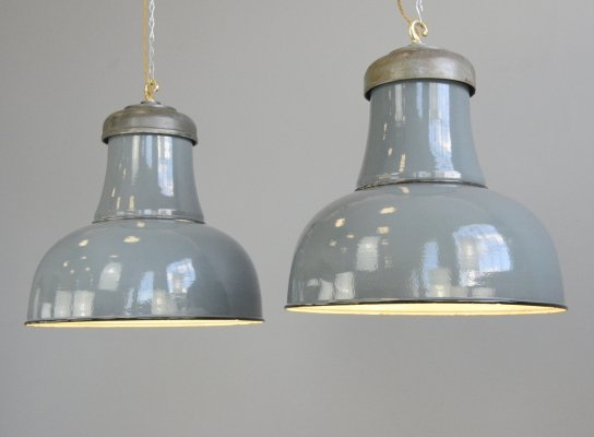 XL Factory Lights by Schaco, Circa 1930s