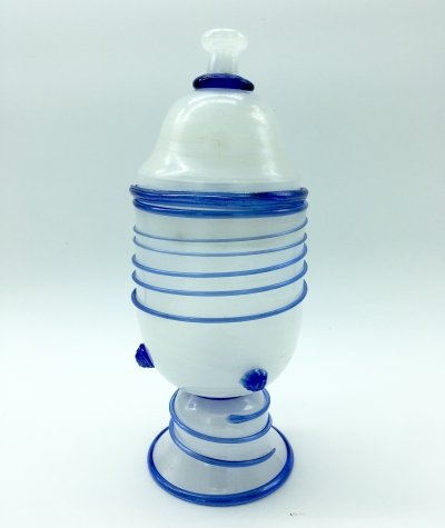 1960's Murano Glass Lidded Vase