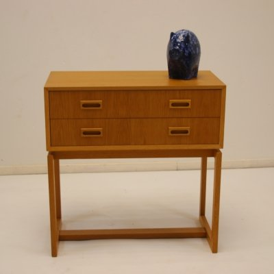 Swedish design beech chest of drawers, 1960s
