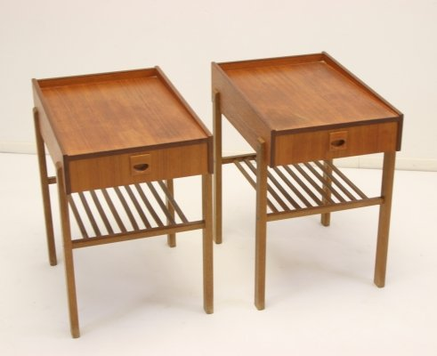 Pair of Swedish bedside tables, 1960s