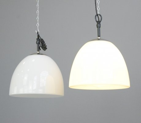 Opaline Pendant Lights by Vilhelm Lauritzen, Circa 1950s