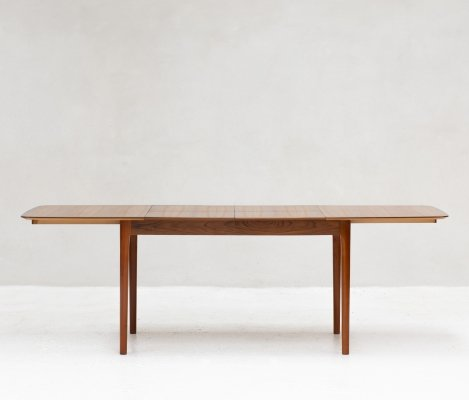 XL extendable dinging table in teak, The Netherlands 1960