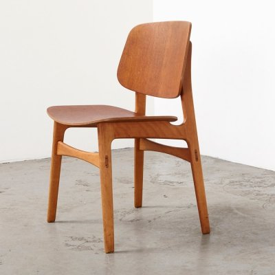 Borge Mogensen Dining Chair Model 155 for Soborg Denmark, 1949