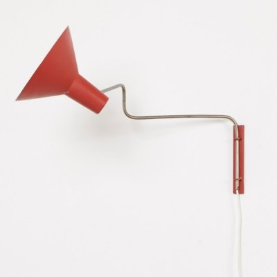 J. Hoogervorst Elbow Wall Lamp for Anvia, 1950s