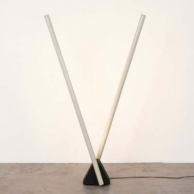 Rodolfo Bonetto Sistema Flu Lamp for Luci, Italy 1981