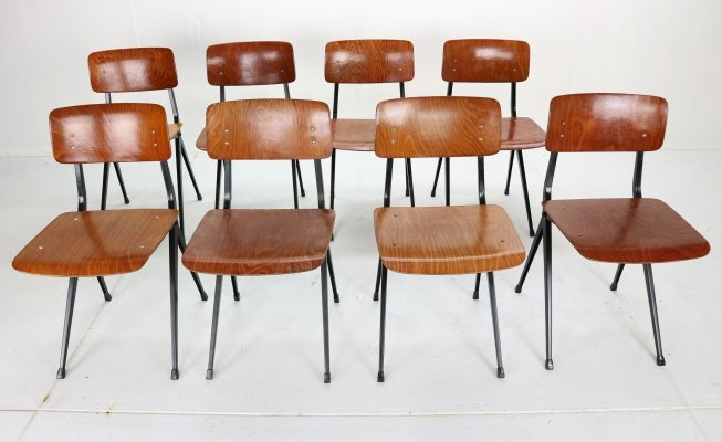 8 x Industrial Chair 'S201' by Ynske Kooistra for Marko, Holland 1950s