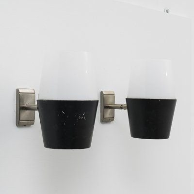 Set of 2 adjustable wall lights by Greco, 1960s