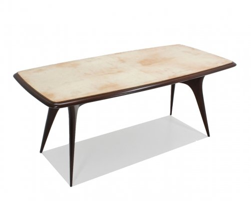 Italian design parchment dining table, 1950s