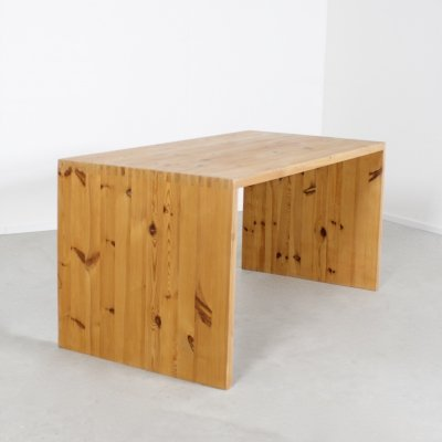 Dining Table by Ate Van Apeldoorn in Solid Pine, Netherlands 1970s