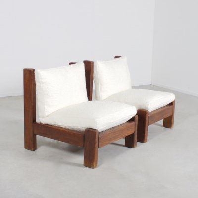 Set of Lounge Chairs in Brazilian Hardwood, Brazil 1960s