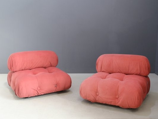 Modular Camaleonda set in pink by Mario Bellini B&B Italia, original label 1970s