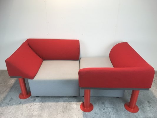 Pair of QUADRIO 960 lounge chairs by Michael McCoy for Artifort, 1980s