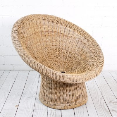 'E10' Rattan Lounge Chair by Egon Eiermann for Wilde & Spieth, 1960s