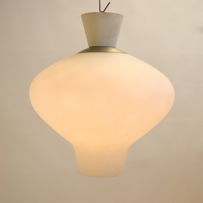 Large Milk White Outdoor lamp by ASEA, 1950s