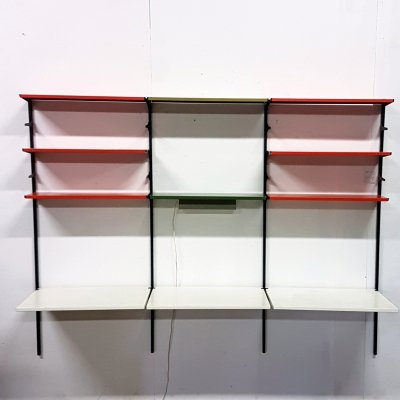 Very rare wall unit with desk & lamp by Tomado, Netherlands 1950s