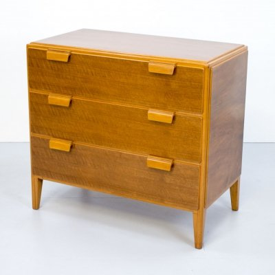 Art Deco Walnut Chest of Drawers, 1940s