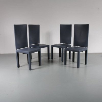 Set of 4 Arcara dining chairs by Paolo Piva for by B&B Italia, 1980s