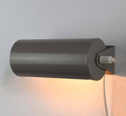 Vintage Ikea Wall Lamp V413 in grey, 1970s