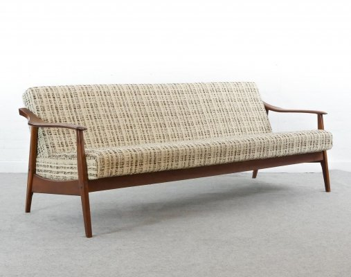 Vintage scandinavian sofa / sofa bed / daybed in teak, 1960s