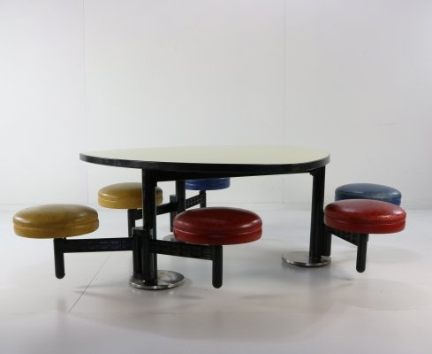 Children school seating group by Osvaldo Borsani for Tecno