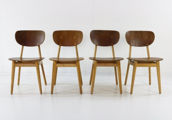 Set of 4 SB13 dining chairs by Cees Braakman for Pastoe, 1960s